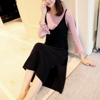5683 to film the new lace knitting skirt two-piece sleeve fork poised under 63 PCS