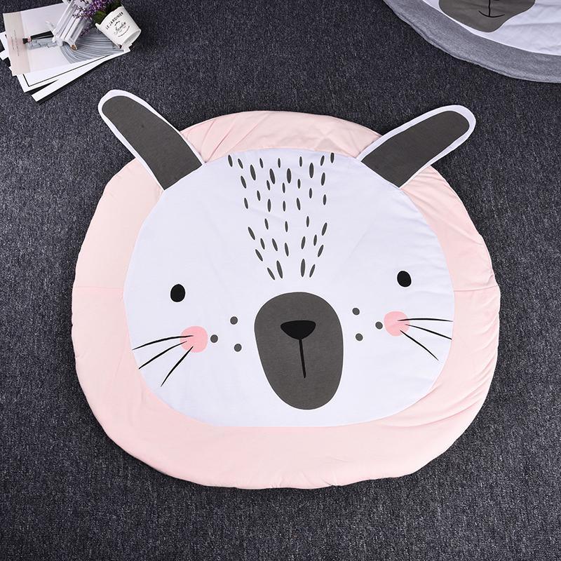 Activity & Gear Mother & Kids Newborn Kids Breathable Floor Mats Baby Crawling Blanket Cotton Chilren Padded Mat Round Carpet Play Rug Kid Room Decoration Pad