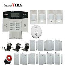 SmartYIBA Home Security Auto Dialer Alarm System Metal Remote Controller Fire Smoke Detector Alarm Kits SMS Alarmes