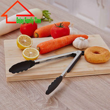 2017 Good Quality Best Price Stainless Steel Barbecue Clip Salad Clip Unique Shape Kitchen Tongs Pollution-free Barbecue Tools