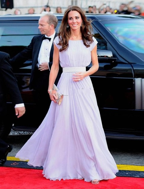 Exquisite Chiffon Kate Middleton Prom Dresses Evening Dress For Gala ...