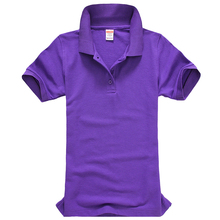 Women POLO Shirt Lapel Short-sleeved Shirt Slim Summer Cotton Leisure  Female Casual Solid Color POLO shirt