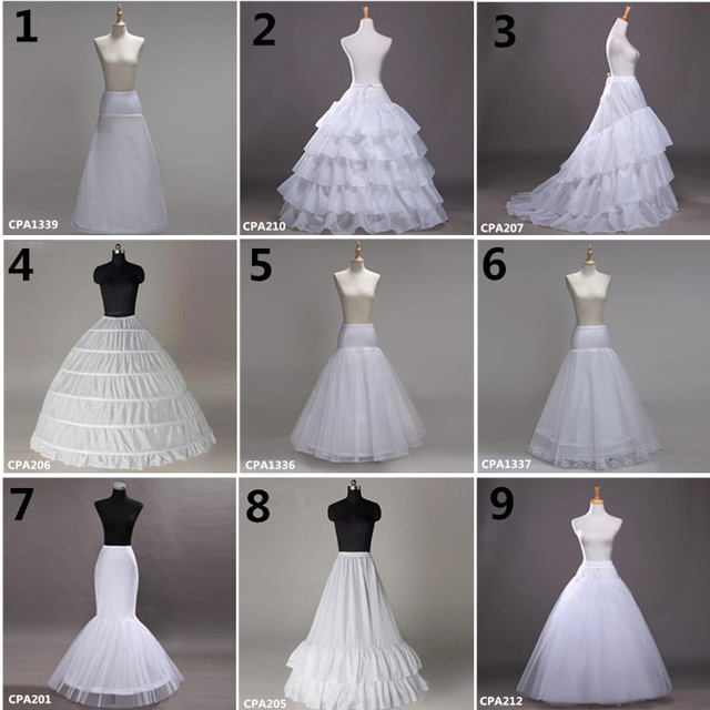 Jupon Femme White Wedding Petticoat 2019 Crinoline Tulle Dress For Bridal Underskirt Mermaid Petticoat Girl Jupon Mariage