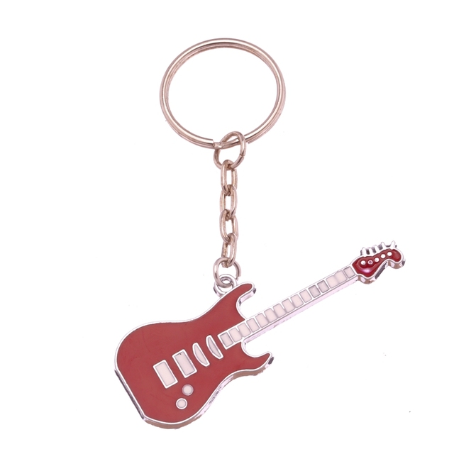 Wave Child Jewelry Electric Guitar Key Ring Guitarist Keyring Fender