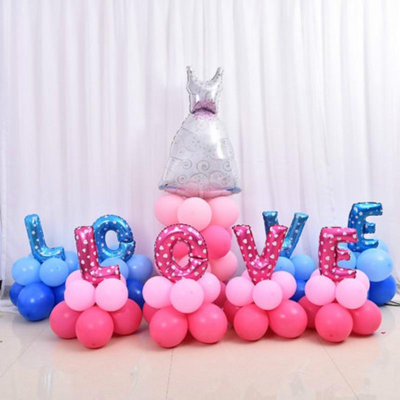 4pcs / lot Letter Happy Birthday BALLOON Aluminum Foil Baby Birthday Balloon Par