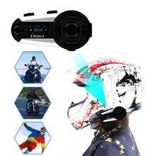 T20S мотоциклетный шлем Bluetooth домофон гарнитура с экраном микрофон FM Радио MP3 gps 1200m 6 полный дуплекс для водителя водонепроницаемый беспроводной