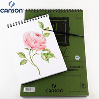 16k Canson XL Drawing Dessin Paper Spiral multimedia Pad For Drawing pencil pastel charcoal and pen 160 g 40 Sheets Art book