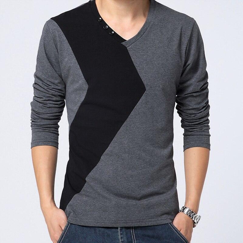 a8833e380669c Camiseta de retazos clásica de manga larga para Hombre