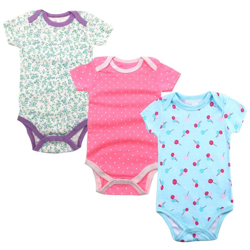 Baby Girls Underwear Newborn Babies Boys Clothing Random 3 Pack Infant Short Sleeve 3 6 9 12 18 24 Months Clothes