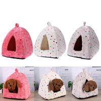 Striped Removable Cover Wram Mat Dog House Dog Beds For Small Medium Dogs Pet Products House