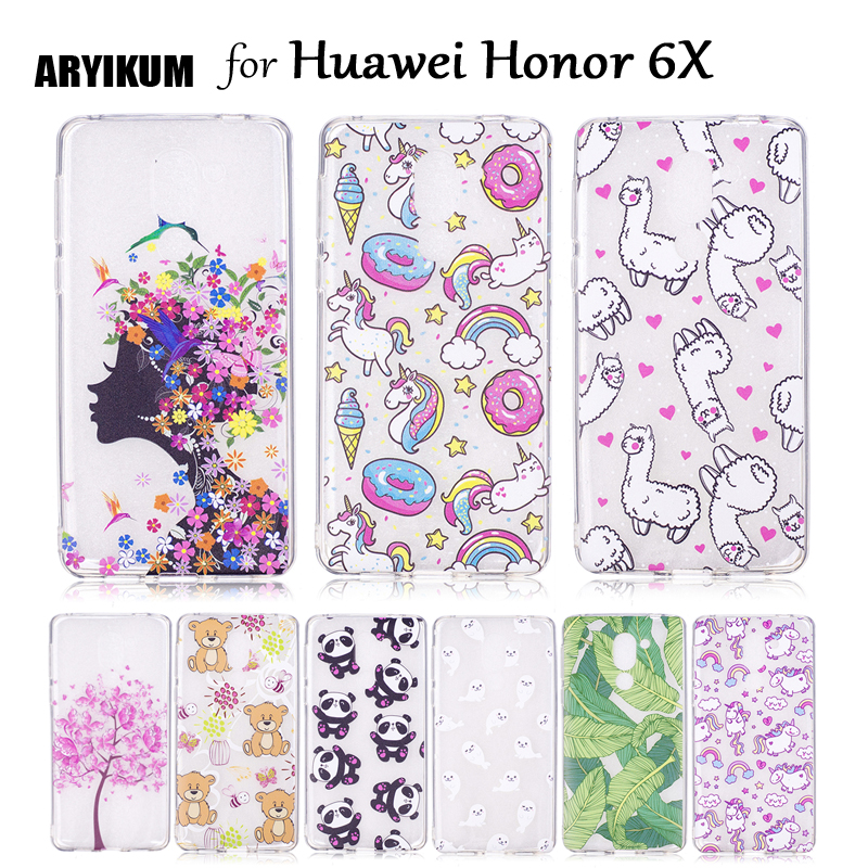ARYIKUM For Huawei Honor 6X 4g 3gb 32gb 64gb Lte Dual Sim Android Mobile Phone Back Cover For Hawei Honor 6X Case Silicone Coque