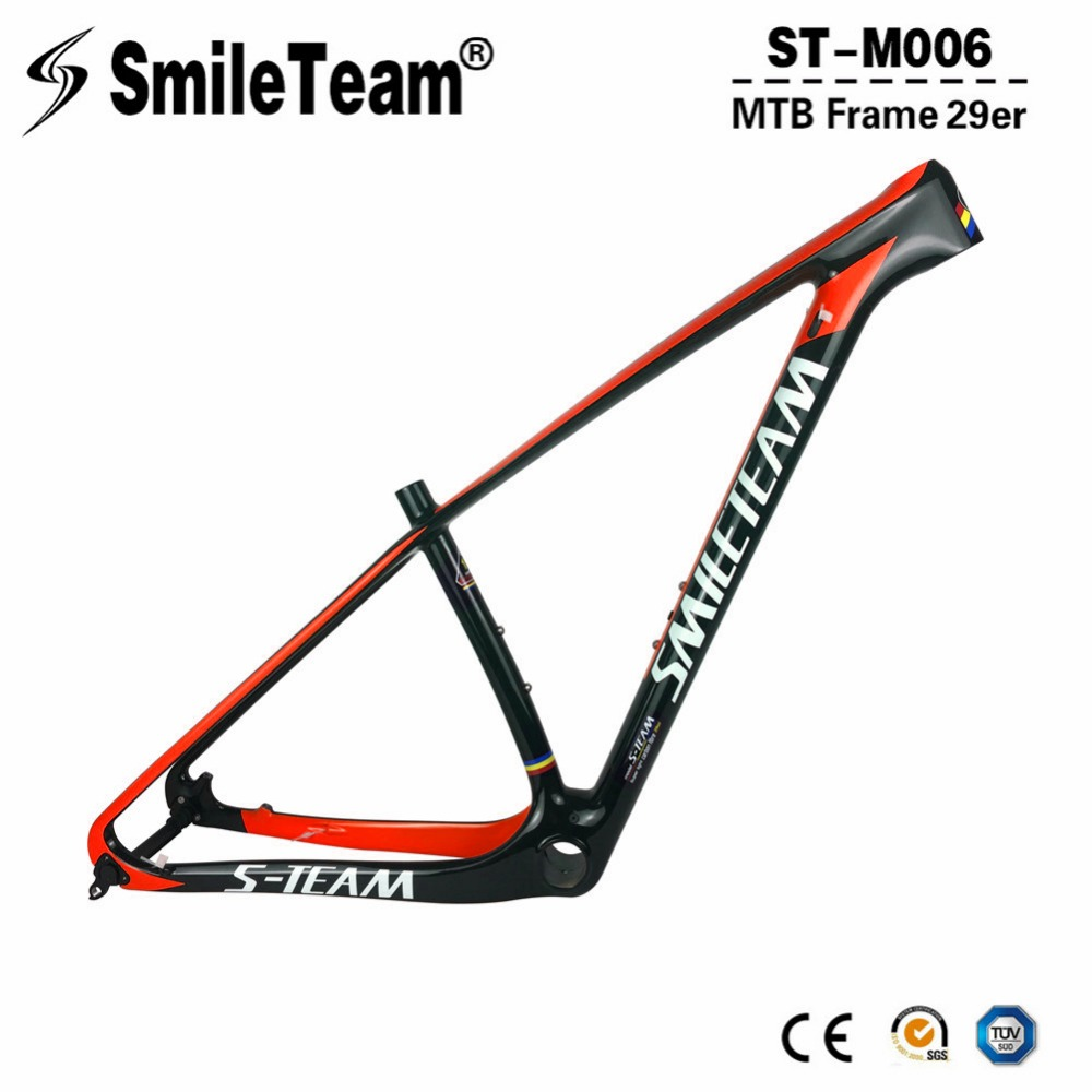 Smileteam T1000 Full Carbon MTB Frame 29er MTB Carbon Frame 27.5er Carbon Mountain Bike Frame 142*12 or 135*9mm Bicycle Frame 2017 mtb bicycle 29er carbon frame chinese mtb carbon frame 29er 27 5er carbon mountain bike frame 650b disc carbon mtb frame 29