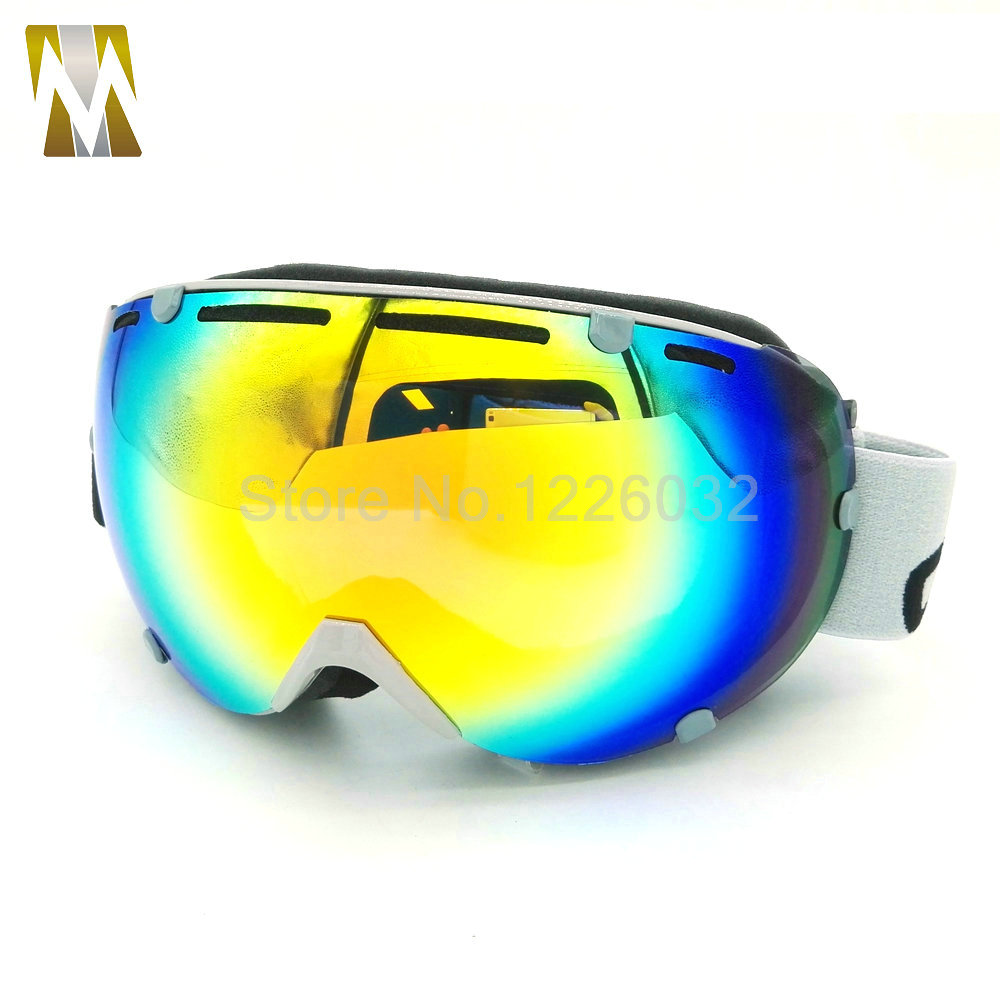 Skiing goggle motocross glasses uv400 motorcycle eyewear double lenses anti-fog snowboard mask UV400 skating googles