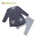 New Spring Children's Clothing Sets Baby Girls Dress Cotton Suits Sets Kids Casual Cartoon Shirt+Pant Sets Kids Sports Sets