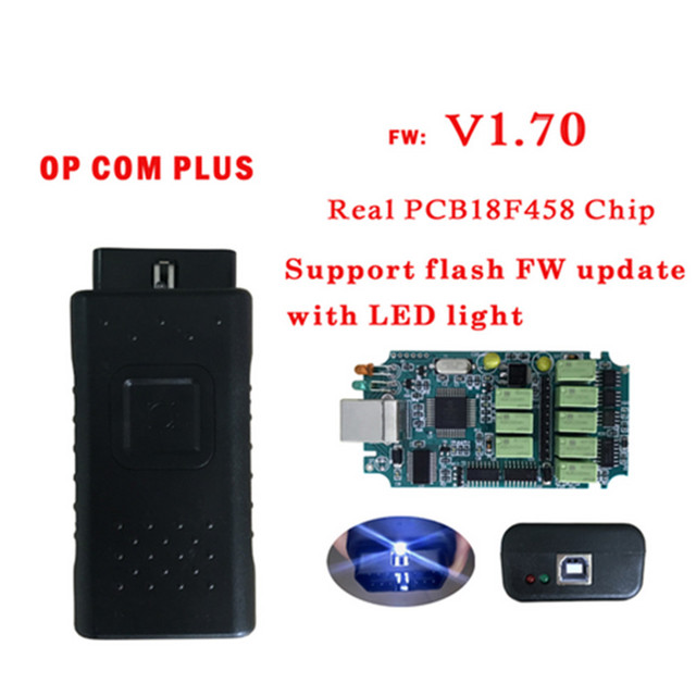 Special Offers 20PCS Newest V1.70 Firmware Obd2 Diagnostic-Tool OPCOM V1.70 plus Free 2014v Softwares With Real Pic18f458 can be flash update