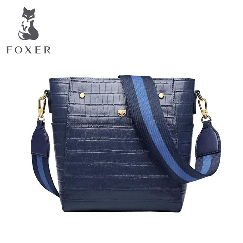 Cow leather handbag  2019 new wave simple one-shoulder fashion bucket crossbody bag Crocodile bag female  Cow leather handbag  2019 new wave simple one-shoulder fashion bucket crossbody bag Crocodile bag female