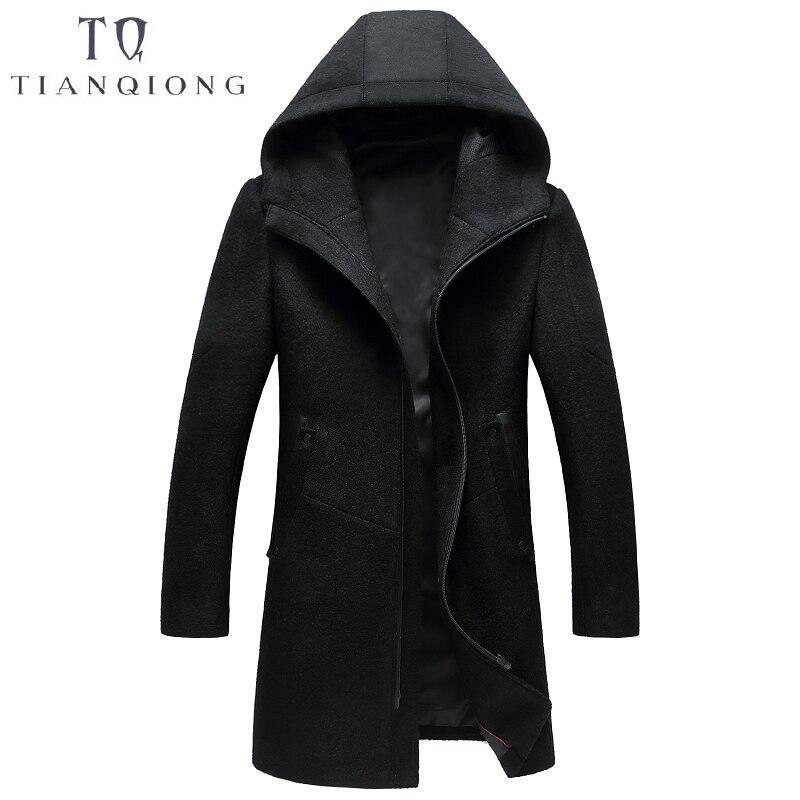 2018 Herbst Und Winter Neue Stil Luxus Hohe Qualität Männer Wolle Mantel Dicke Warme Zipper Solide Farbe Graben Mantel Jacken Für Männer