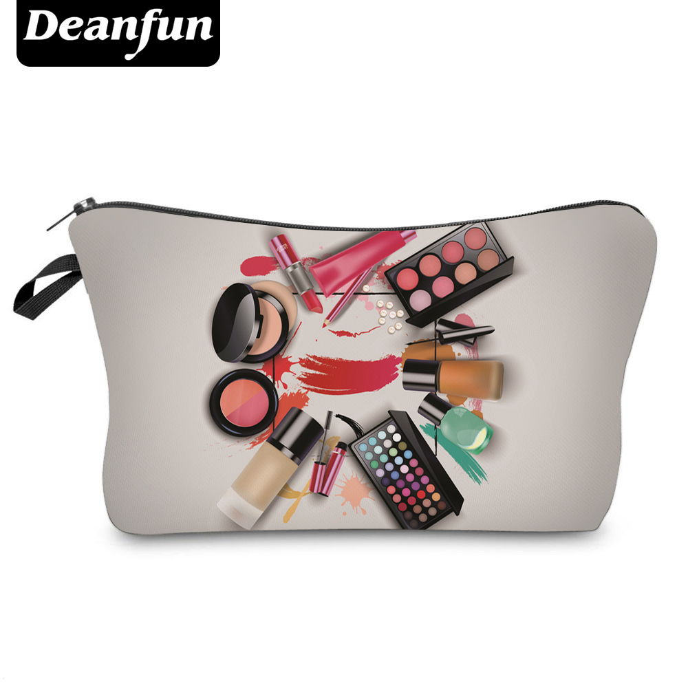 Deanfun 3D Printing Cosmetic Bags  New Fashion Makeup Zipper Polyester Storage Organizer Necessary Travel Women  50758