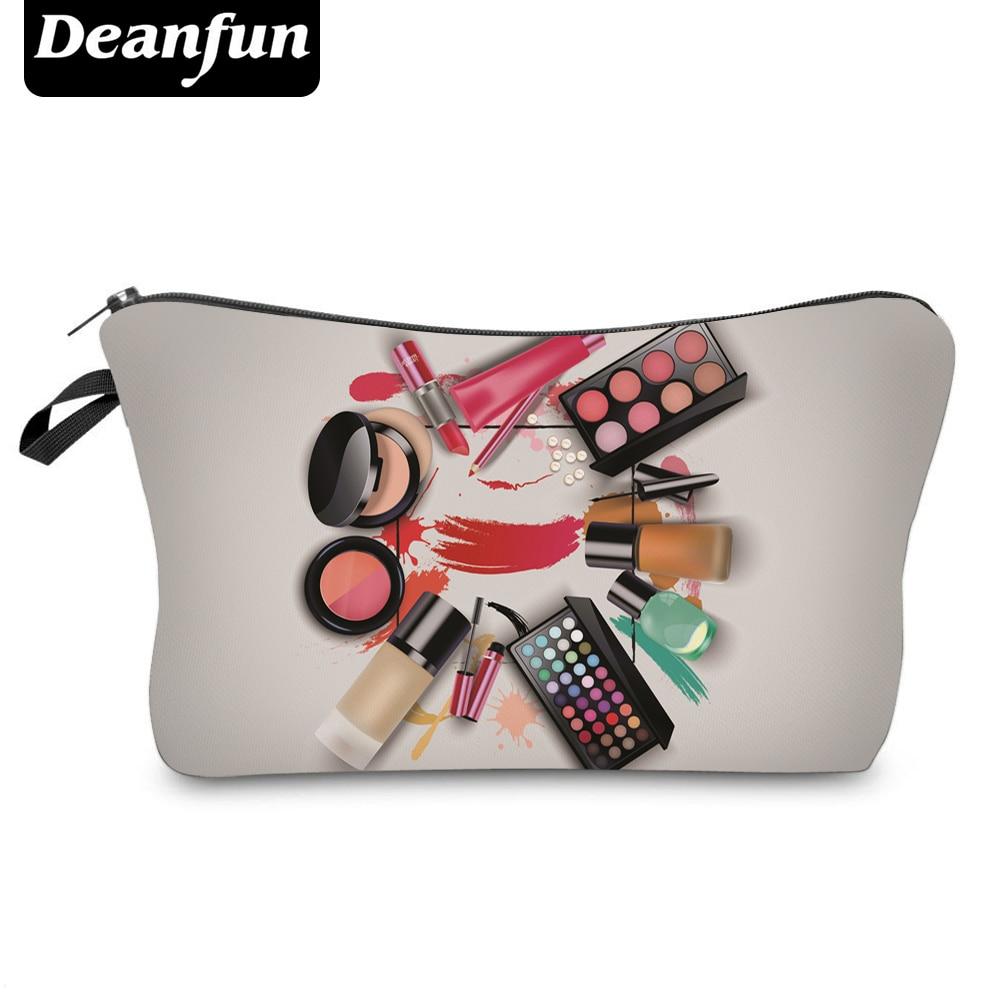 Deanfun 3D Printing Cosmetic Bags  New Fashion Makeup Zipper Polyester Storage Organizer Necessary Travel Women  50758