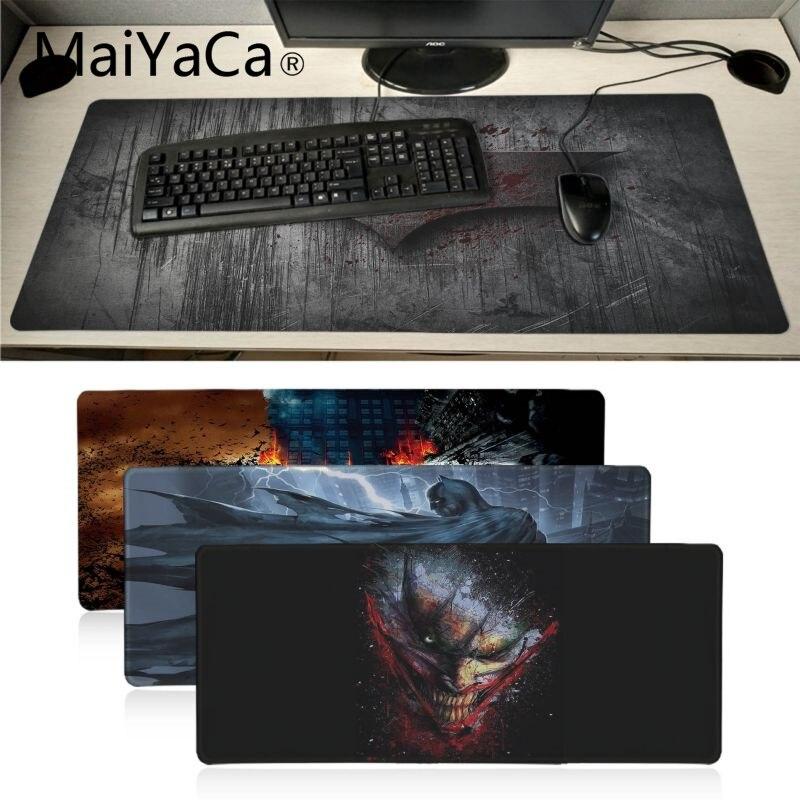 MaiYaCa Ventes Chaudes Batman souris gamer jeu tapis Grand Gaming Mouse Pad Lockedge Tapis de Souris Clavier Pad