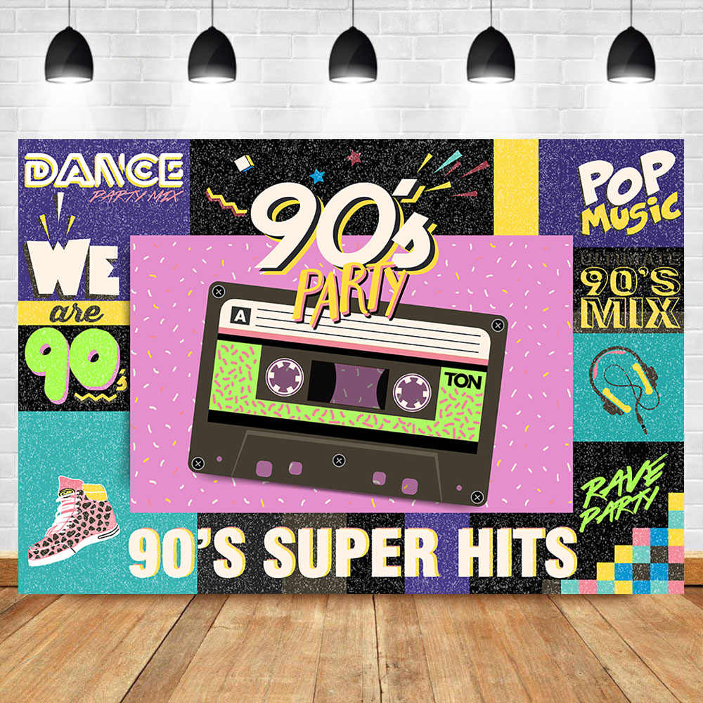 Neoback Back To 90 S Backdrop Graffiti Retro Radio Fashion Shoes Photography Background Hip Hop Themed Party Banner Backdrops Aliexpress