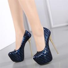 Women Platform Pumps Super High Heels 16.5 CM Stiletto High Heel Shoes Woman New Design Party Wedding Shoes Big Size 34-40