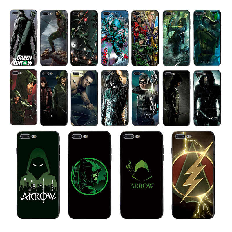 Telefoon Case Green Arrow Soft Cover Voor iphone 8 7 Plus X 6 6 S XS Max xr SE 10 5 5 S Cool design siliconen mobiele Back shell Capa