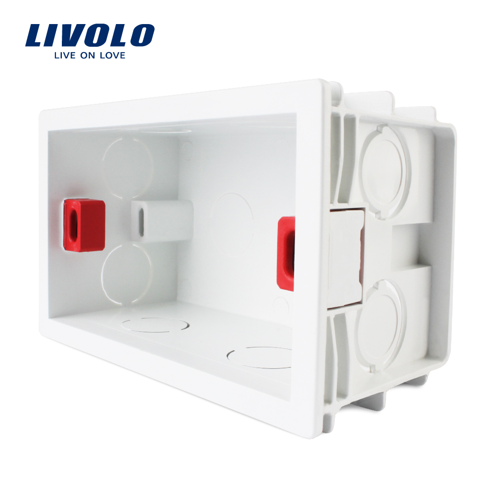 Livolo Free Choose, White Plastic Materials, 101mm*67mm Standard Internal Mount Box For C8/C9/C5 Standard Products,3pcs/pack