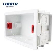 Livolo Бесплатная выбрать, белый Пластик материалы, 101 мм * 67 мм нам Стандартный внутренняя гору Box для 118 мм * 72 мм Стандартный настенный выключатель света