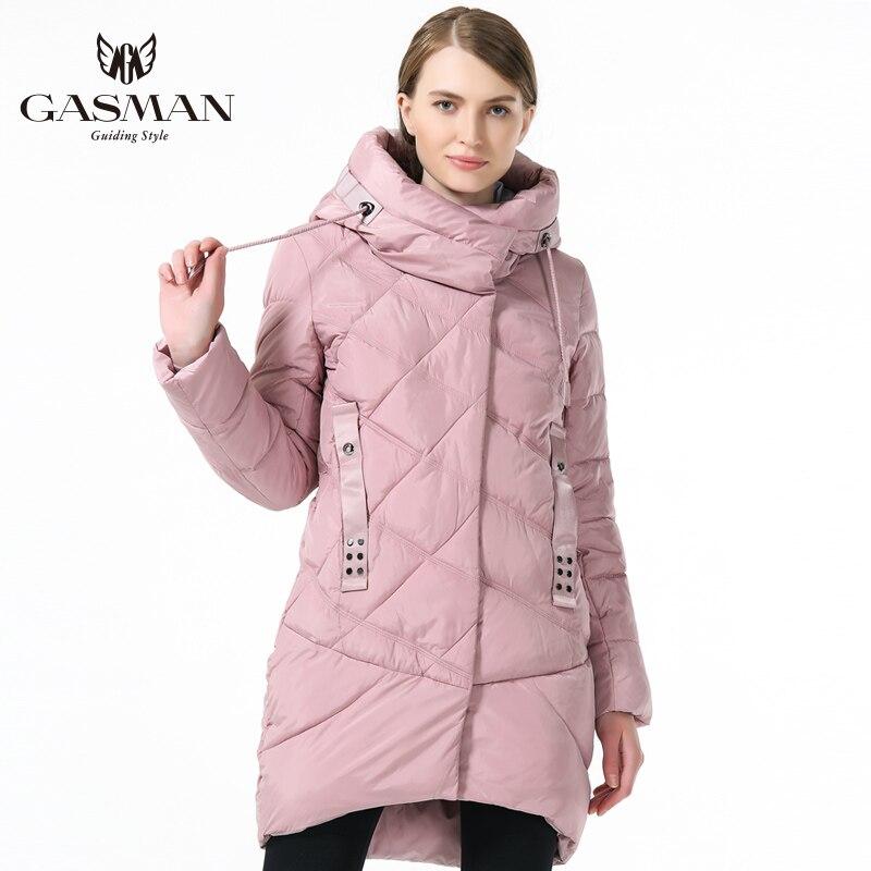 GASMAN 2019 Women Hooded Warm Parka Fashion Women Winter Thickening Down Jacket Hooded Warm Overcoat Women