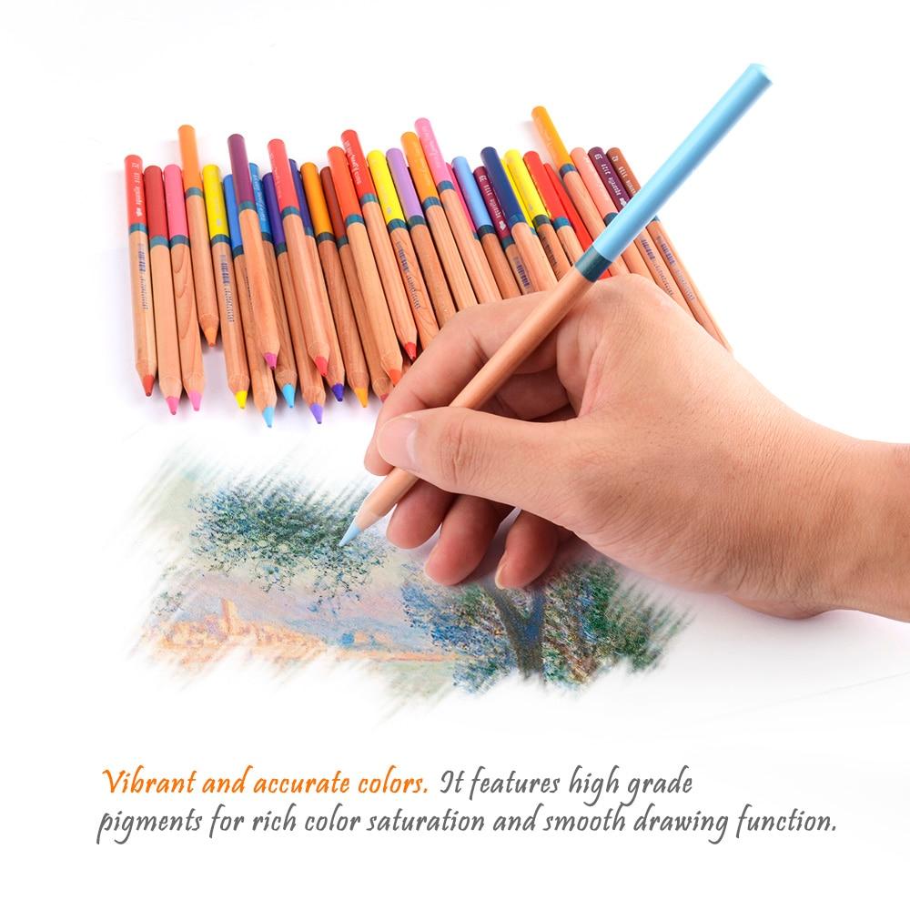 Marco-3120 Renoir crayons de couleur Art professionnel peinture crayon 48/72 couleurs ensemble pour dessin aquarelle peinture + pinceau - 6