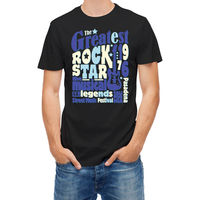 T-shirt Music Rock Legend Star Festival Typography Printed Round Men T Shirt Cheap Price Top Tee Sale 100 % Cotton T Shirt