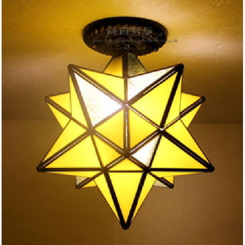 Tiffany creative Star personality living room restaurant bar ceiling lamps corridor entrance balcony windows simple DF58 LU1021 vintage ceiling lamps american style copper lamps ceiling light personality simple country balcony lamp home lighting corridor