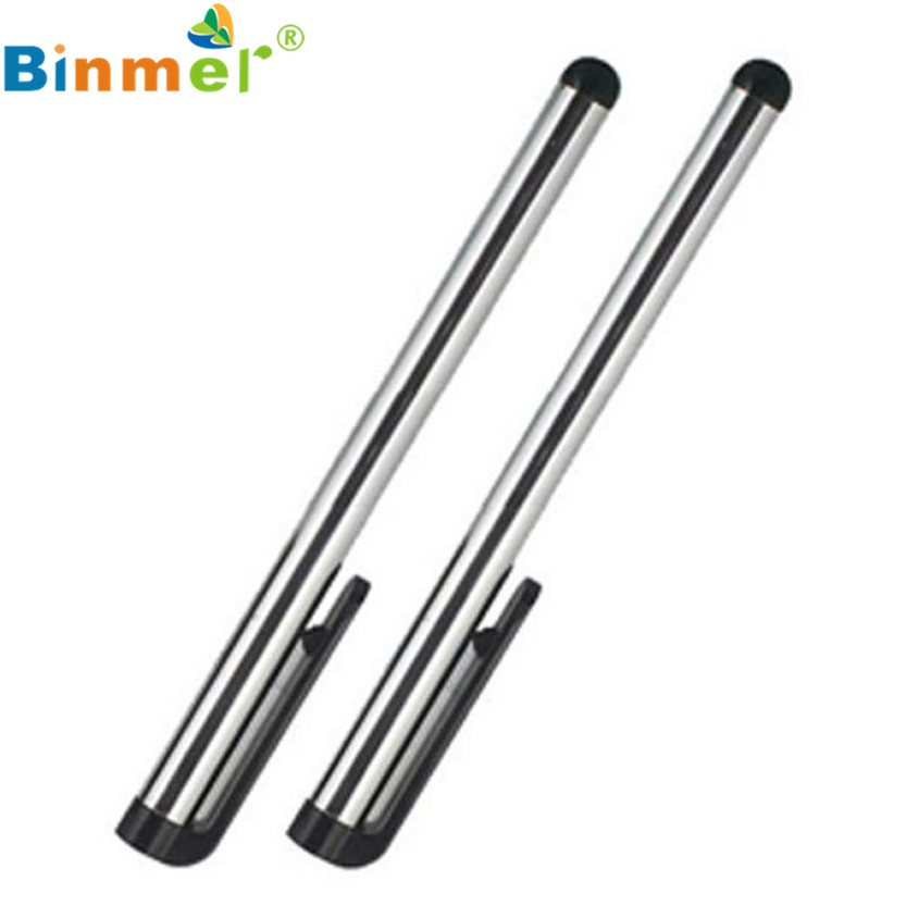 Long Silver 2 PCS Touch Pen Rubber and Metal for iPad Air 2 3 4 iPad mini 3 Retian iPhone Samsung Wholesale Price shining rhinestone home button sticker for iphone 4 4s 5 5c ipad black silver 2 pcs