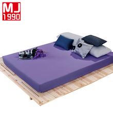 High Quality Fitted Sheet Solid Top Mattress Polyester / Cotton Elastic Band Queen Drap Housse De Matelas Wholesale