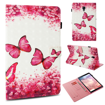 PU leather Tablet Case for Samsung Galaxy Tab A 10.5 (2018) T590 T595 lovely Tower bear butterfly Painted Protective case