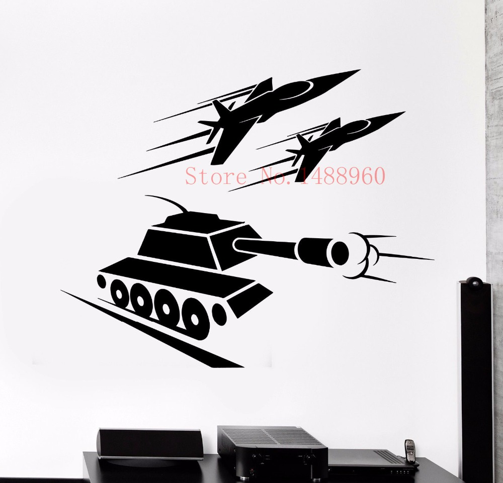 E631 vinyl wall sticker home decor wall decals wall mural for Airplane cockpit wall mural