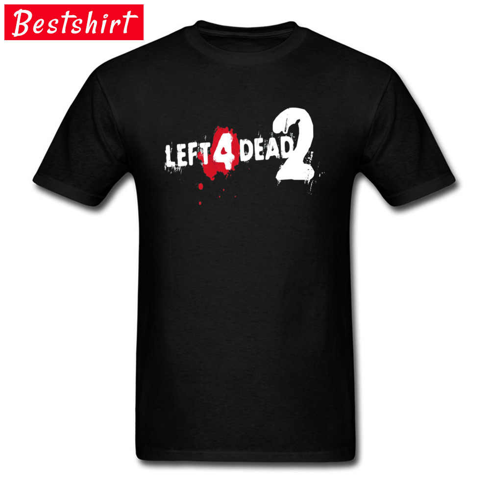 The Walking Dead Zombie Tshirts LEFT 4 DEAD 2 Game Funny T Shirt Dark Carnival Dead Center bagno Fever czarny Gamer T-Shirt Boy