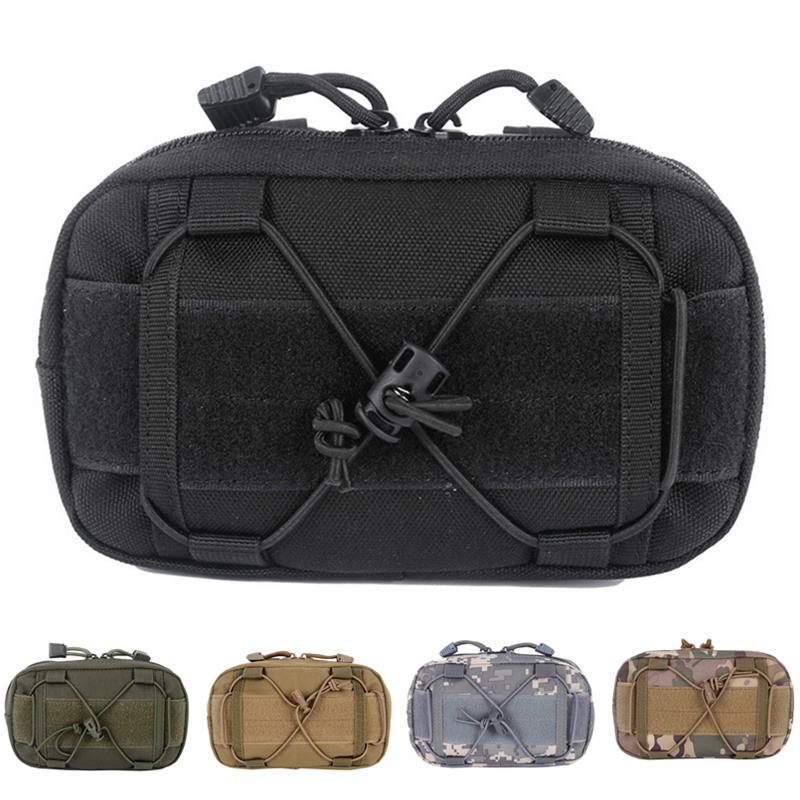 CQC Outdoor Tactical EDC Tool Molle Waist First Aid Medical Pouch Utility Admin Map Pouch Military Climbing Hunting Waist Bag