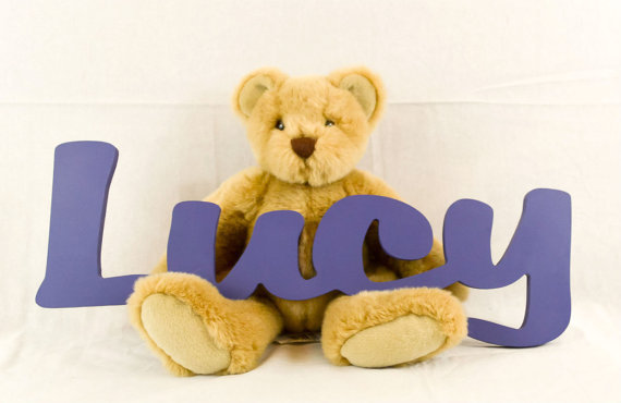 - Kids Personalized Wooden Name Signs - Childrens Name Wall Decor, Wooden Letters, Wooden Names, Wall Names, Wall Letter