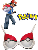 Pocket Monster Ash Ketchum Poke Ball Anime Underwear Cosplay Bra Costume