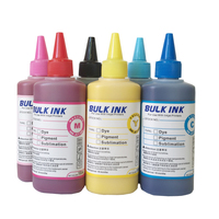Specialized Pigment INK for EPSON stylus 6colors desktop printers 100ml per bottle can printing on couton cotton cloth