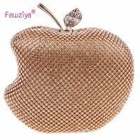 Fawziya Apple Форма кошелек бренд Сумки для Обувь для девочек ручной работы Клатчи