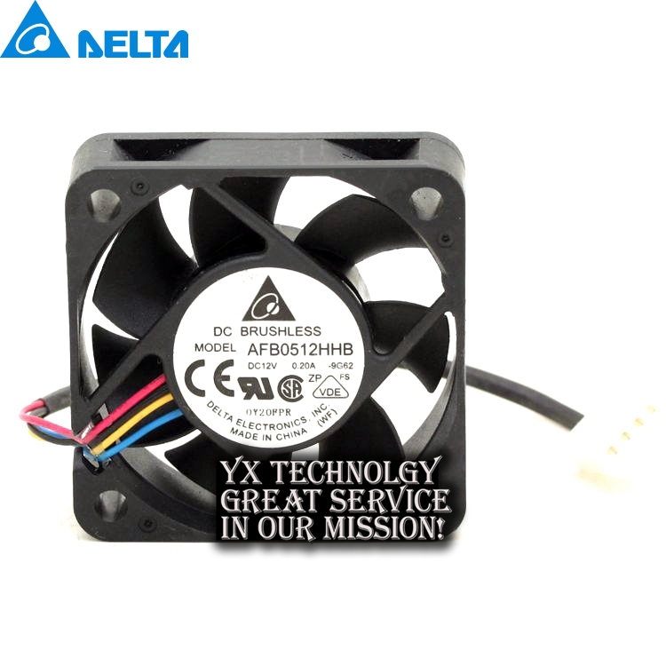 Delta New 5015 AFB0512HHB 12V 0.20A double ball four wire PWM server fans for 50*50*15mm