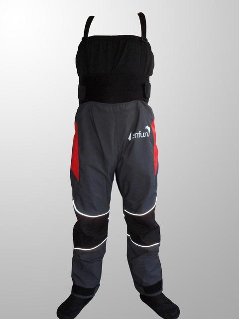 lenfun kayak dry bib ,dry pants, Waterproof pants with cordura socks paddle rafting fishing kayaking