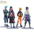 12 CM 4 Unids/set Naruto Kakashi Sasuke Akatsuki Uchiha Itachi Lindo Set PVC Figura de acción naruto figura de acción de recogida de Juguetes muñecas