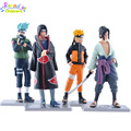 12CM 4Pcs/set Naruto Kakashi Sasuke Akatsuki Uchiha Itachi Cute Set action Figure PVC collection Toy naruto action figure dolls