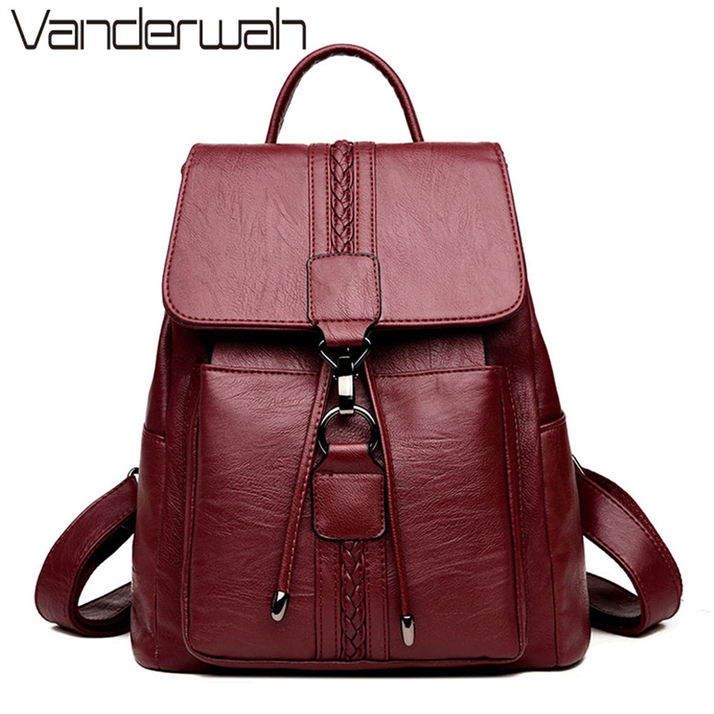 NEW 2018 Casual TIE Women Backpack High Quality Leather Backpacks for Teenage Girls Female School Shoulder Bag Bagpack mochila магазин tamaris екатеринбург