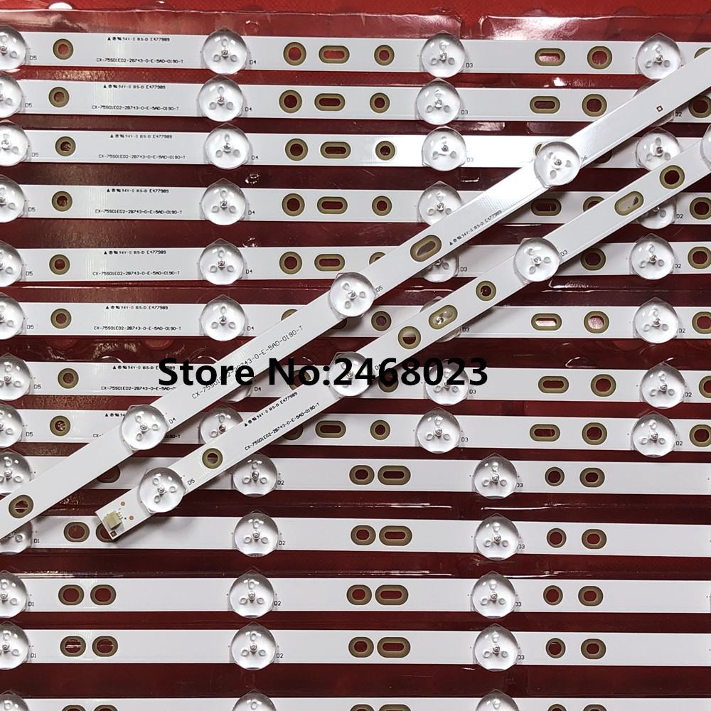 "Image 5 - 12pieces/lot for So ny 75"" KDL 75W850C LED Backlight strip 750TV07 V1 CX 75S01E02 2B753 0 E 59K 4638 T 5+8led-in LED Bar Lights from Lights & Lighting"