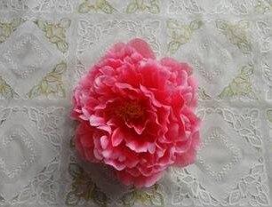 Искусственный Ткань 12 Слои 16 см большой пион роза цветок камелии головка для ювелирных изделий DIY Свадьба Рождество - Цвет: hot pink